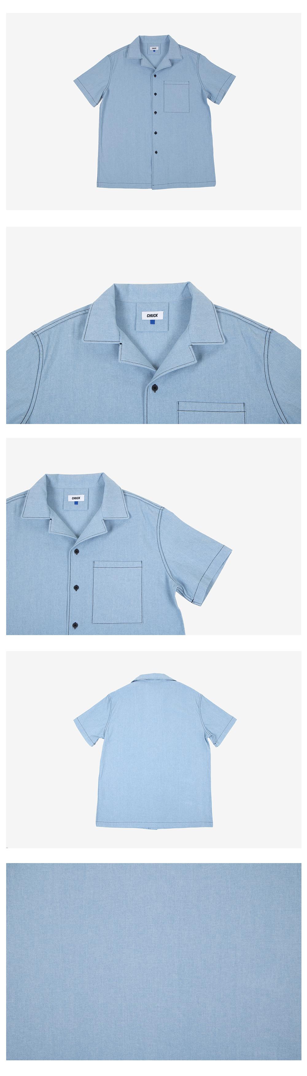 Chuck denim half sleeve shirt light denim 69 000 for Denim half sleeve shirt
