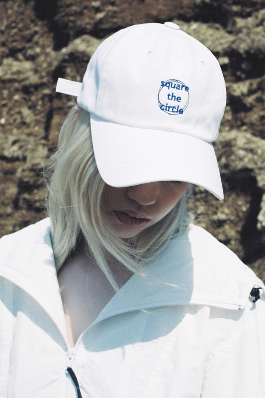 SQUARE THE CIRCLE BASEBALL CAP - WHITE/BLUE