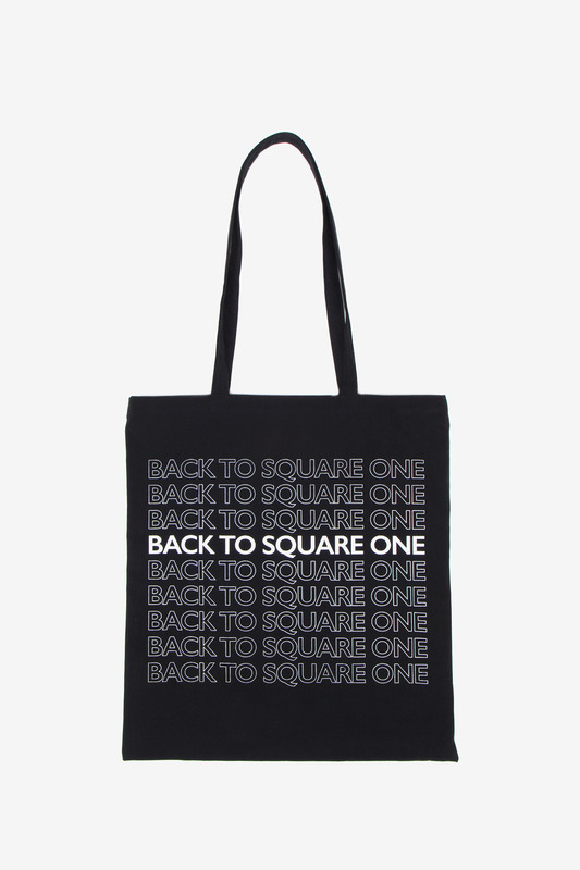 BACK TO SQUARE ONE ECOBAG - BLACK
