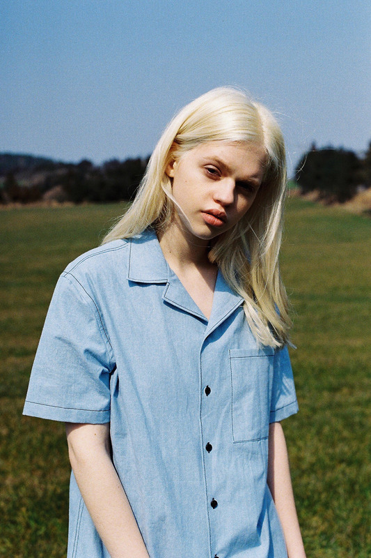 DENIM HALF SLEEVE SHIRT - LIGHT DENIM