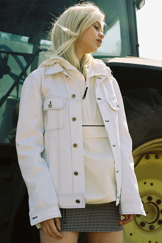 BASIC TWILL JACKET - WHITE