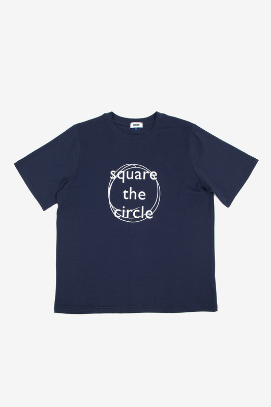 SQUARE THE CIRCLE TEE - NAVY