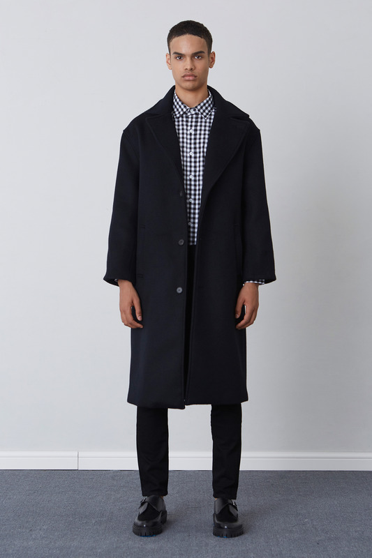 FW17 OVER FIT LONG COAT (BLACK)