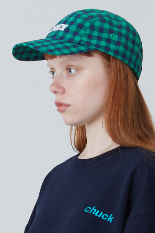 [한정수량] CHECK PATTERN BASEBALL CAP (GREEN)