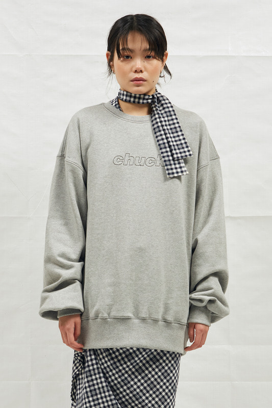 18SS CHUCK STICHING SWEATSHIRT (GRAY)