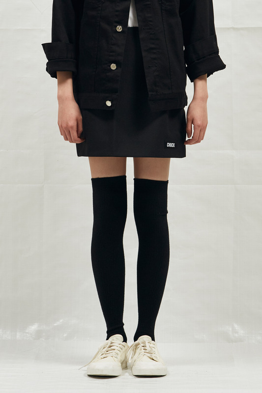 18SS BASIC MINI SKIRTS (BLACK)