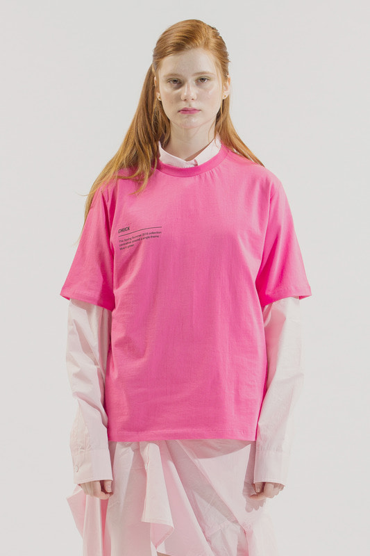 18SS BLUE IN GREEN T-SHIRT (PINK)