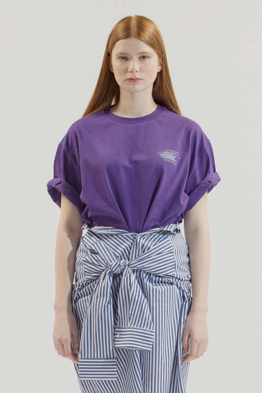 18SS GRADATION LOGO T-SHIRT (PURPLE)