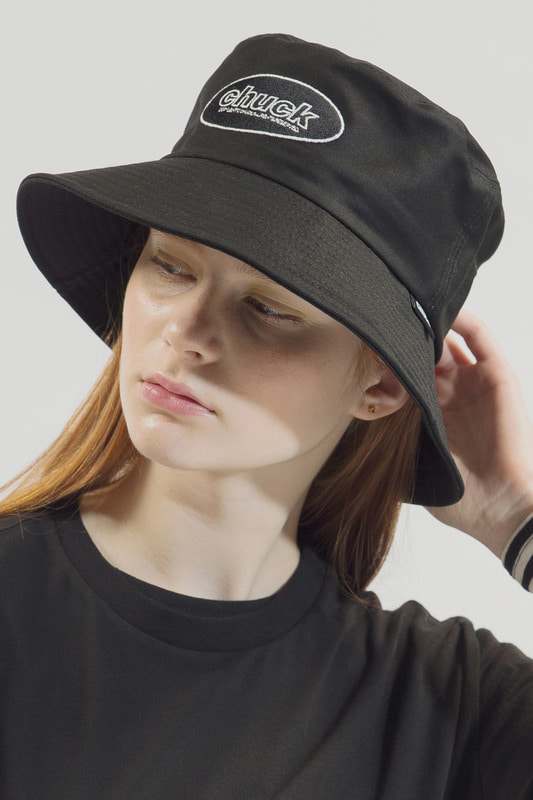 18SS CHUCK OVAL LOGO BUCKET HAT (BLACK)