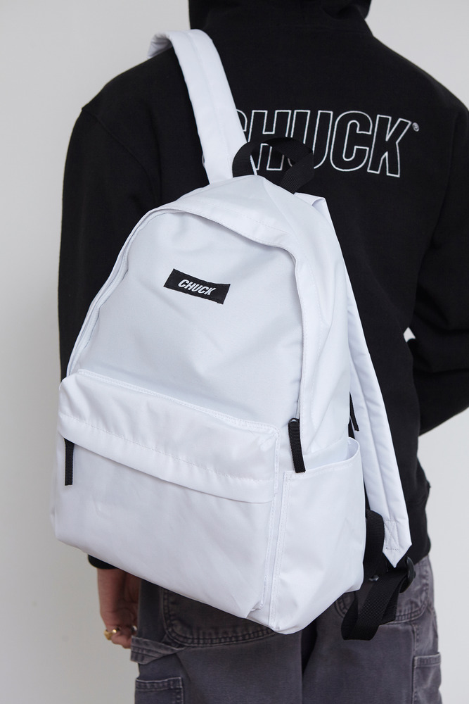CHUCK LOGO BASIC BACKPACK (WHITE)