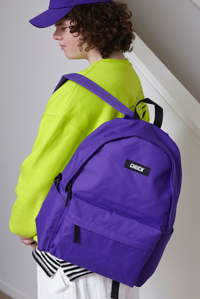 CHUCK LOGO BASIC BACKPACK (PURPLE)