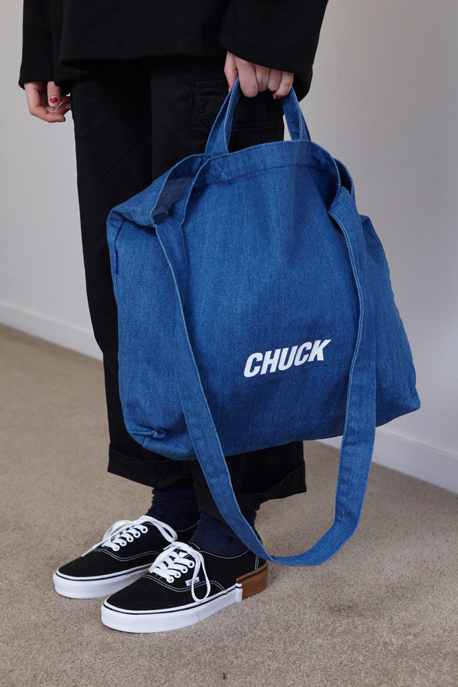 CHUCK LOGO DENIM 2WAY BAG (BLUE)