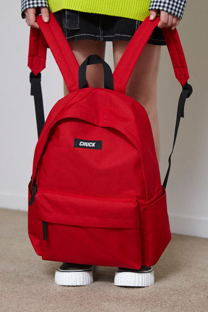 CHUCK LOGO BASIC BACKPACK (RED)