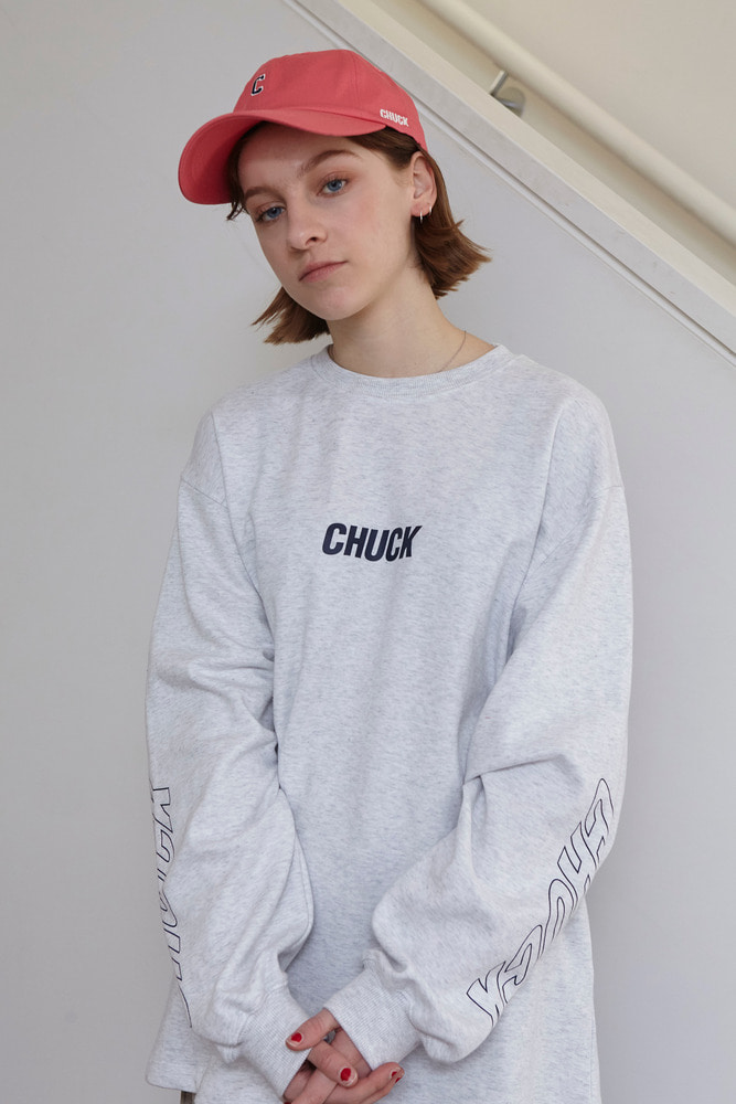 18FW CHUCK SLEEVE PRINTING L-S T (OATMEAL)