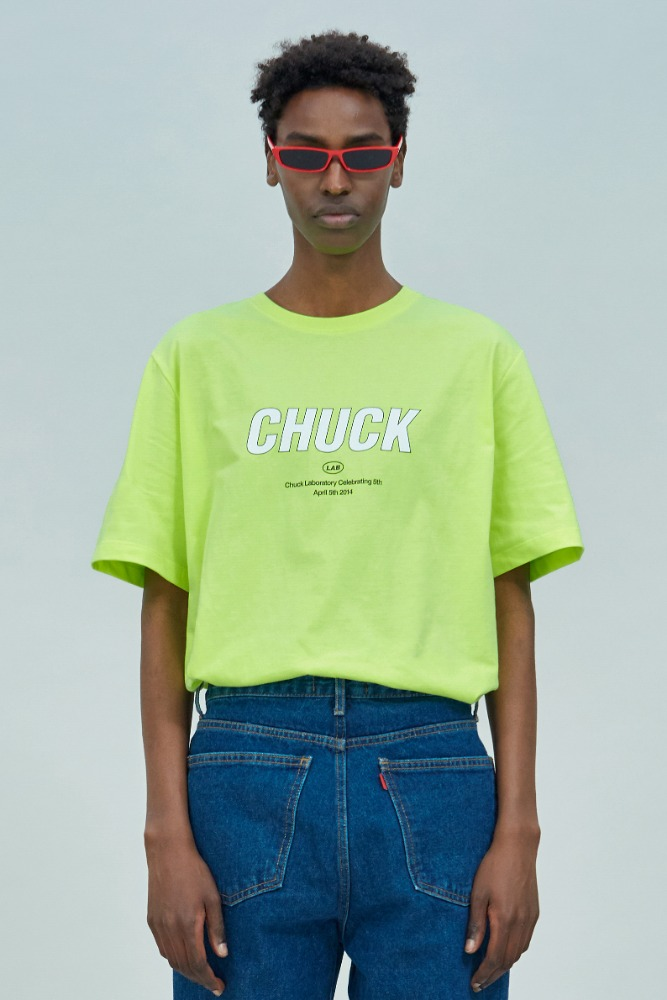 19 SUMMER CHUCKLAB LOGO T-SHIRT (NEON YELLOW)