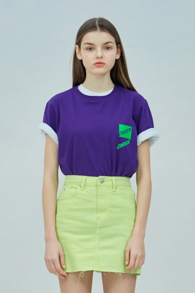 19 SUMMER CHUCK SLANT LOGO T-SHIRT (PURPLE)