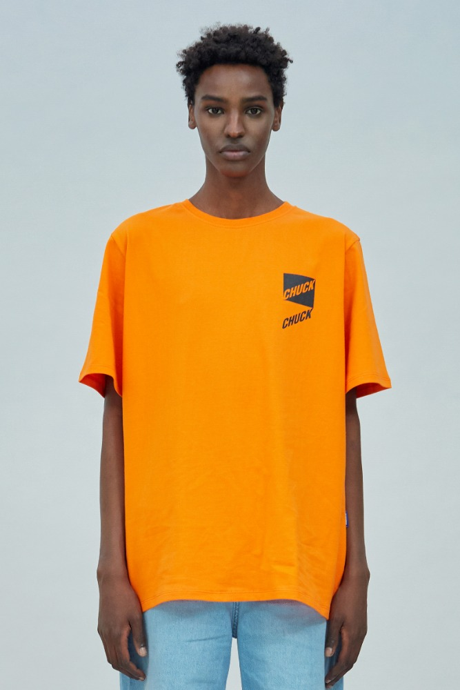 19 SUMMER CHUCK SLANT LOGO T-SHIRT (ORANGE)