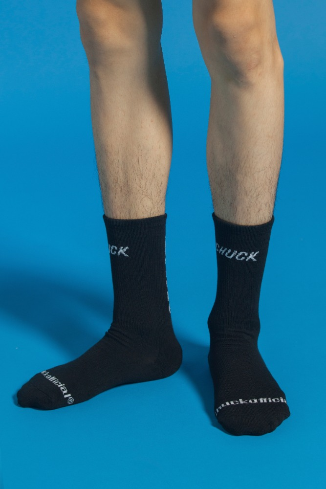 CHUCK BASIC LOGO SOCKS (BLACK)