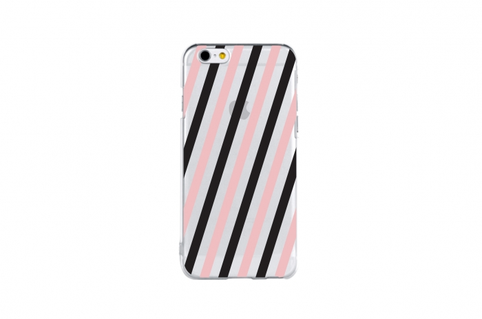 postcard stripe (black&baby pink)