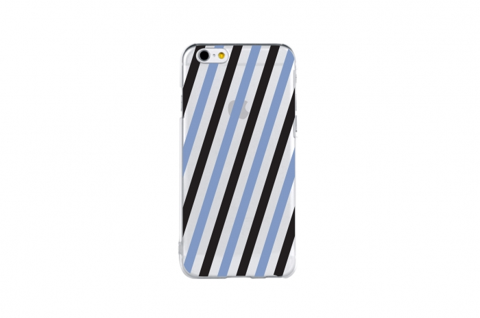 postcard stripe (black&serenity)