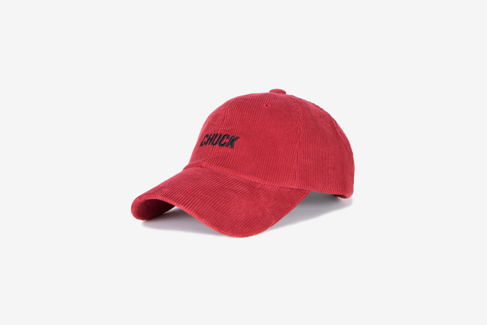corduroy baseball cap (red)