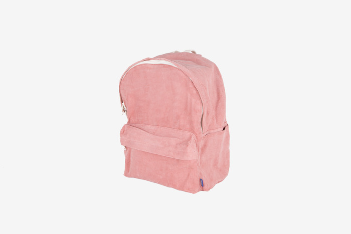 new corduroy backpack (pink)