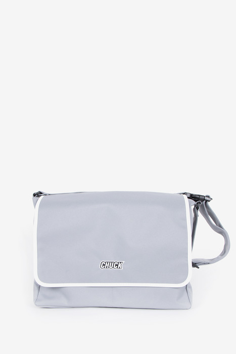"BASIC MESSENGER BAG 15"" (GRAY)"
