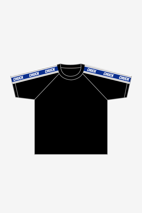 SHOULDER LINE TEE (BLACK)