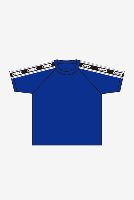 SHOULDER LINE TEE (BLUE)