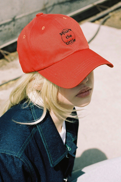 SQUARE THE CIRCLE BASEBALL CAP - ORANGE