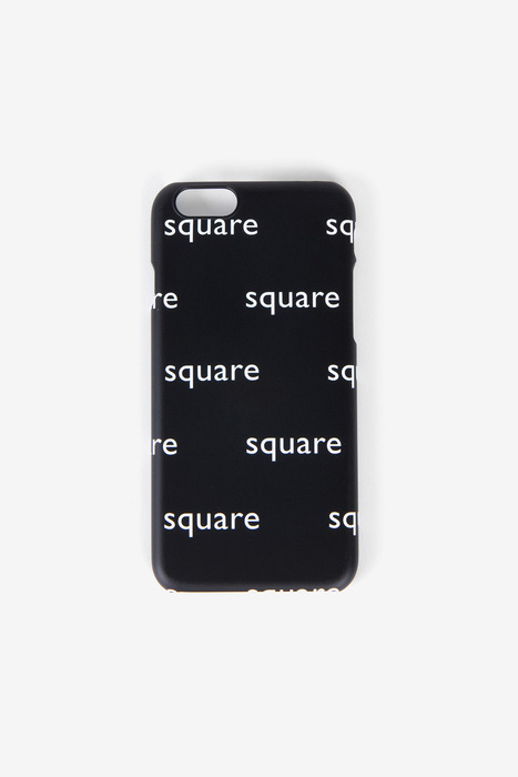 SQUARE PATTERN CASE (BLACK)
