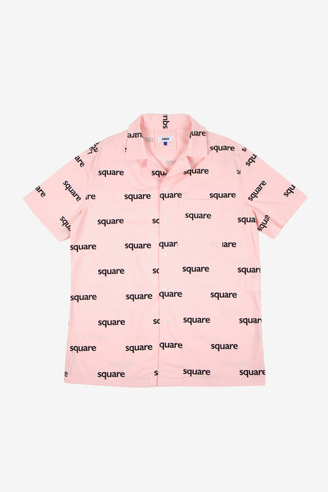 SQUARE PATTERN HALF SLEEVE SHIRT - PINK