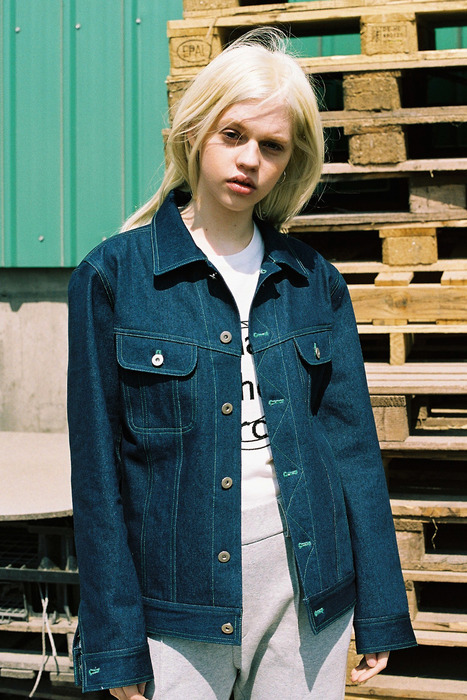 BASIC DENIM JACKET - BLUE DENIM