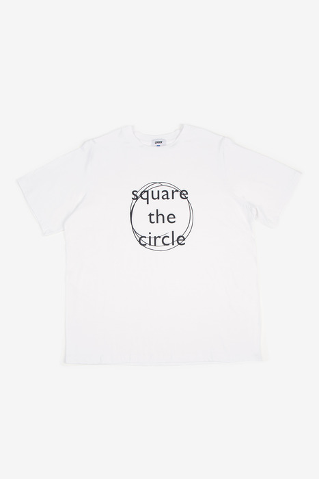 SQUARE THE CIRCLE TEE - WHITE