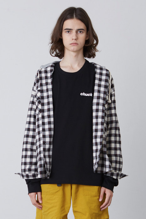 FW17 HOOD SHIRT (BLACK & WHITE)