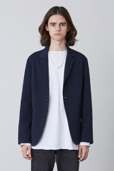 FW17 BASIC JACKET (NAVY)
