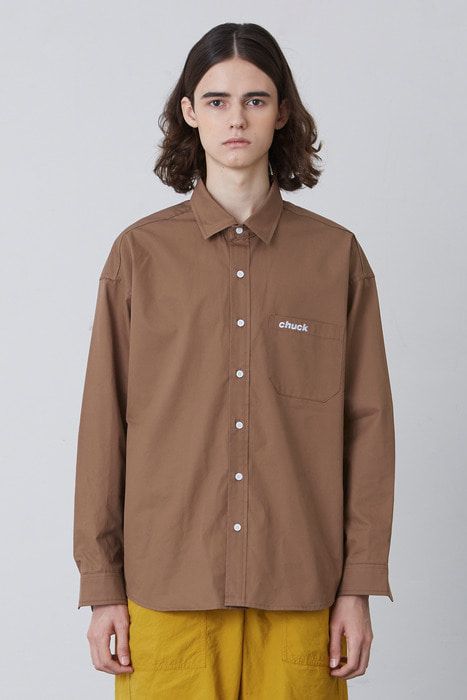 FW17 OVER FIT SHIRT (BROWN)
