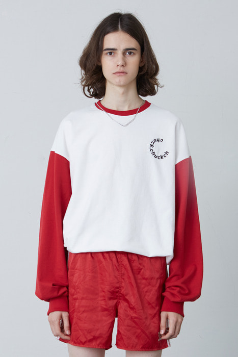 FW17 2COLOR LONG SLEEVE T-SHIRT (RED)