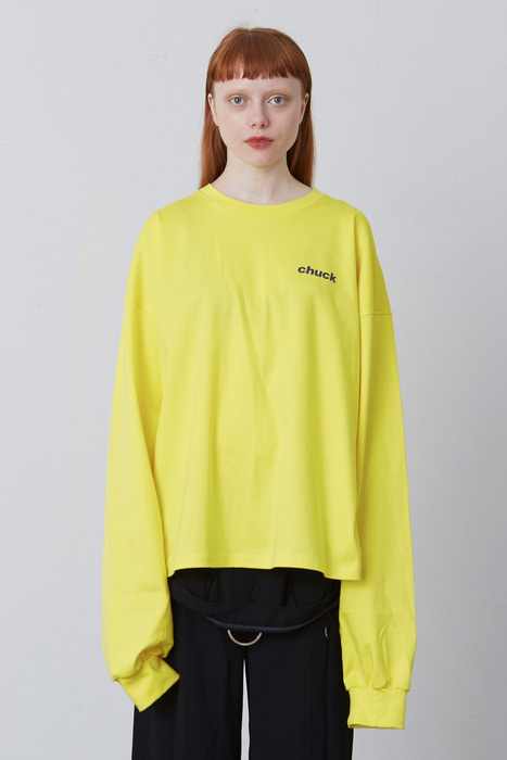 FW17 CHUCK LOGO LONG SLEEVE T-SHIRT (SUN YELLOW)
