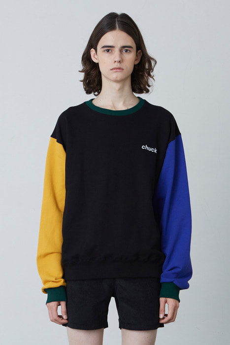 FW17 4 COLOR SWEATSHIRT (BLACK)