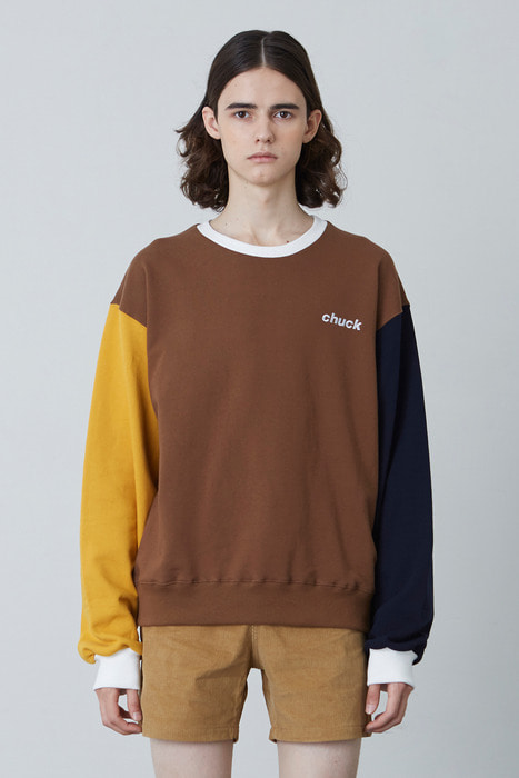 FW17 4 COLOR SWEATSHIRT (BROWN)