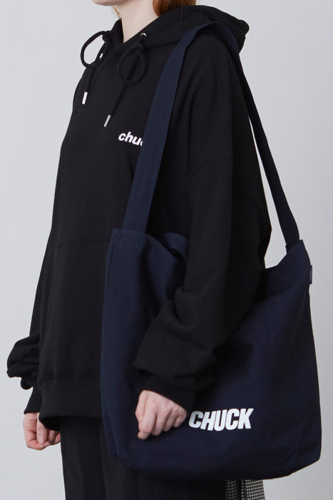 CHUCK LOGO TWO WAY BAG (NAVY)