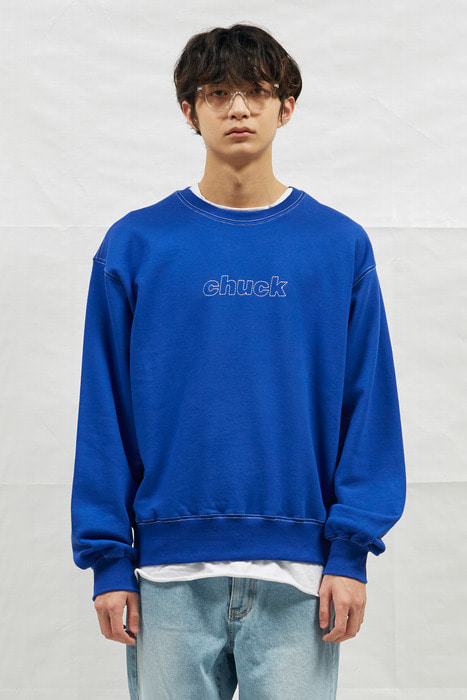 18SS CHUCK STICHING SWEATSHIRT (BLUE)