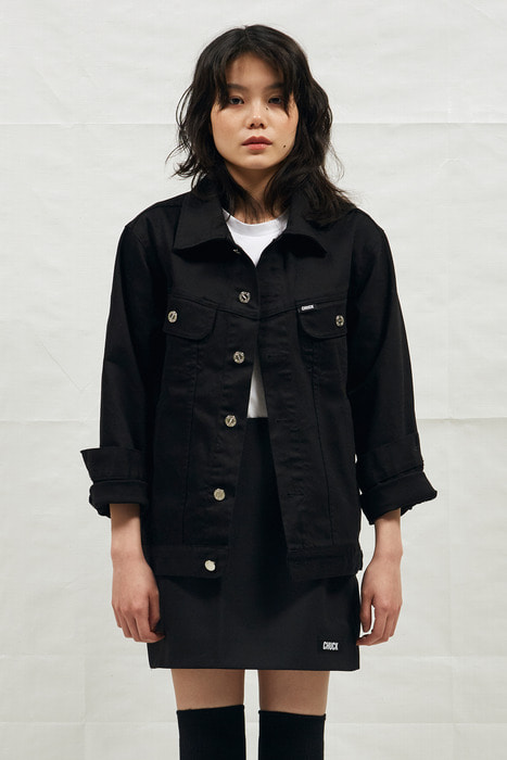 18SS BLACK DENIM JACKET (BLACK)