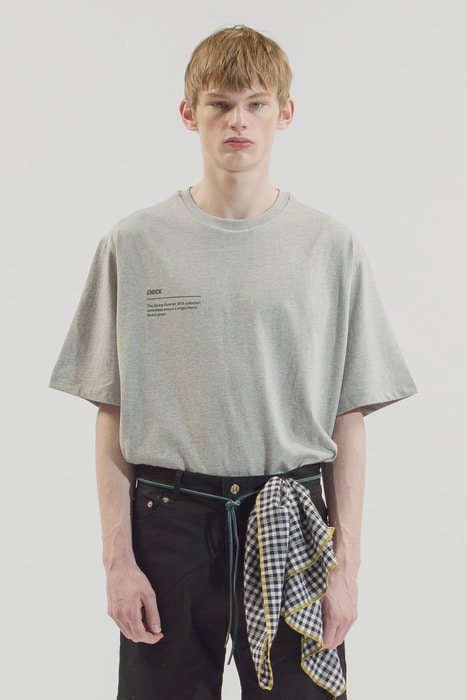 18SS BLUE IN GREEN T-SHIRT (GRAY)