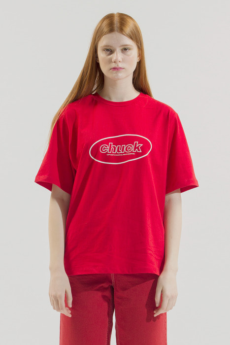 18SS CHUCK OVAL LOGO T-SHIRT (RED)