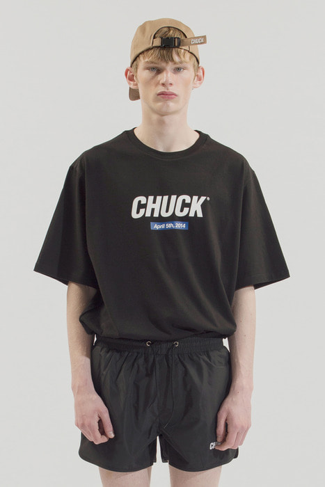 18SS CHUCK SIGNATURE LOGO T-SHIRT (BLACK)