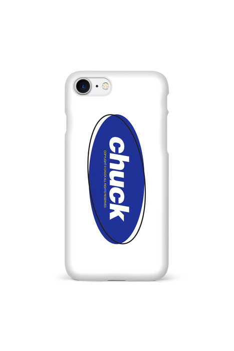 CHUCK COLOR OVAL LOGO (WHITE/BLUE)