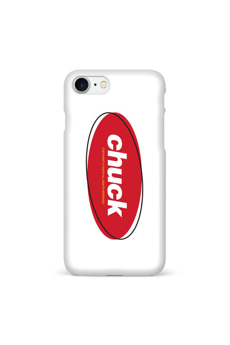 CHUCK COLOR OVAL LOGO (WHITE/RED)