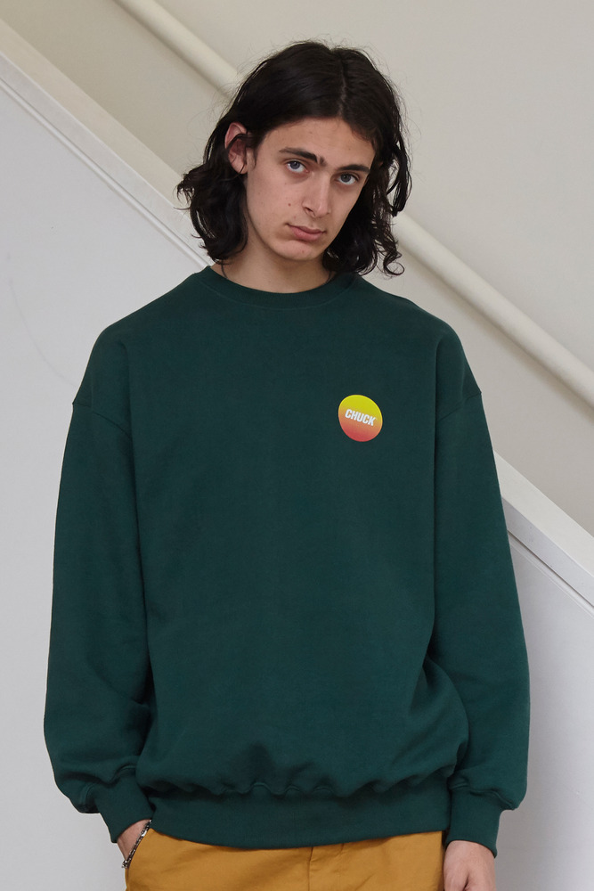 18FW CHUCK GRADATION LOGO SWEATSHIRT (GREEN)